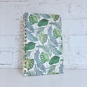 Leaf Print Lined Notebook Journal Paper Stationery
